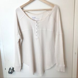 TNA long sleeve shirt with buttons from Aritzia